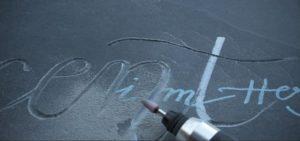 lettres gravure mécanique